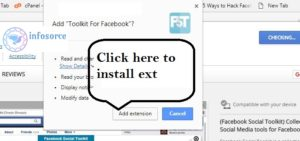 click on add to extension