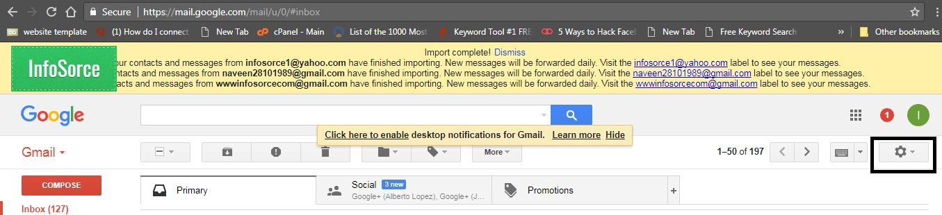 import multiple mail address to moving email from one host to another