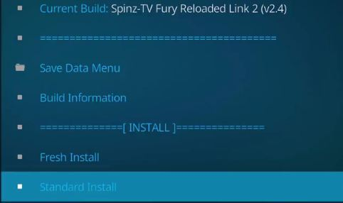 How to standard install