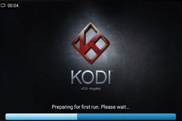 Kodi open first time take time