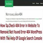 How To Check 404 Error In Website To Remove Not Found Error 404 WordPress With The Help Of Google Search Console