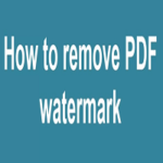 Remove Watermark From PDF Free Full Version Software Download