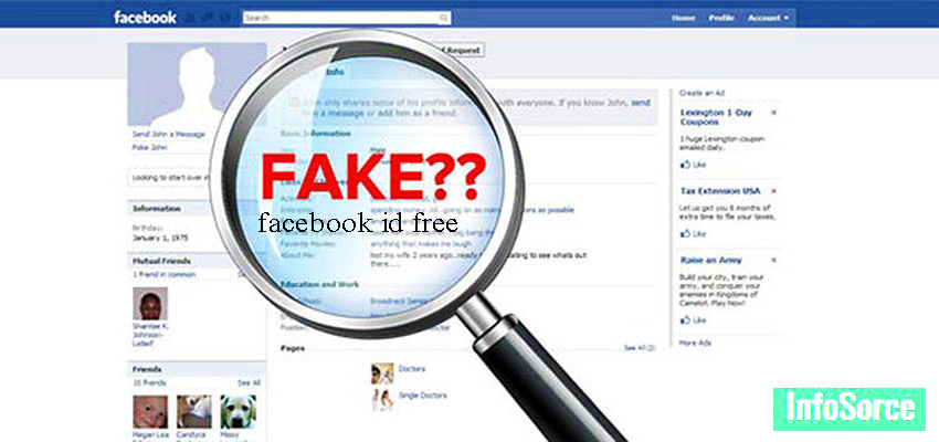 Fake id for facebook