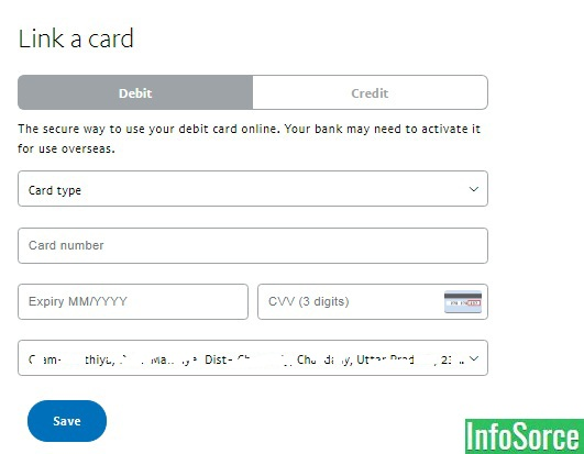 how to add bank account to paypal