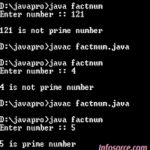 Prime or not program in java